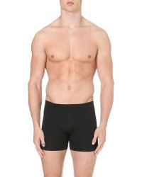 Hanro - Black Superior Short-leg Trunks for Men - Lyst