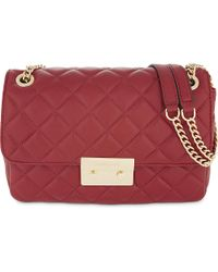 MICHAEL Michael Kors | Red Sloan Large Quilted Leather Shoulder Bag | Lyst