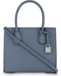 MICHAEL Michael Kors | Blue Mercer Small Leather Tote | Lyst