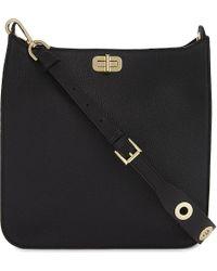 MICHAEL Michael Kors | Black Sullivan Large Leather Messenger Bag for Men | Lyst