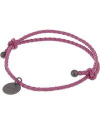 Bottega Veneta - Pink Braided Bracelet - Lyst