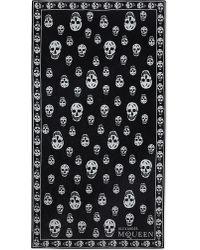 Alexander McQueen | Black Skull Cotton Towel for Men | Lyst