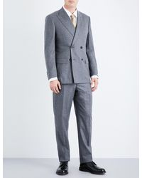 Richard James - Gray Regular-fit Wool-flannel Suit for Men - Lyst