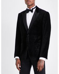 Armani - Black Academy-fit Velvet Jacket for Men - Lyst