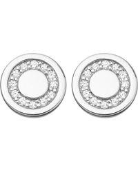 Astley Clarke | Metallic Mini Cosmos Sterling Silver And Diamond Stud Earrings | Lyst