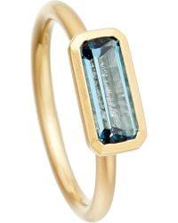 Astley Clarke | 18ct Gold Vermeil London Blue Topaz Ring | Lyst