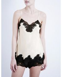 Nk Imode | Black Morgan Stretch-lace And Silk-satin Camisole | Lyst