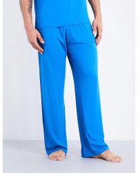 Derek Rose | Blue Basel Jersey Pyjama Bottoms for Men | Lyst