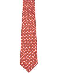 Ferragamo | Red Flying Monkeys Silk Tie for Men | Lyst