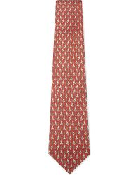 Ferragamo | Red Elephant With Paisley Feather Silk Tie for Men | Lyst