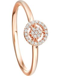 Astley Clarke - Pink Mini Icon Aura 14ct Rose-gold And Diamond Ring - Lyst