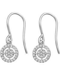 Astley Clarke - Metallic Mini Icon Aura 14ct White-gold Diamond Drop Earrings - Lyst