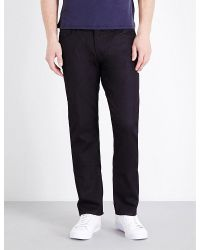 Armani | Blue Regular-fit Stretch-denim Jeans for Men | Lyst