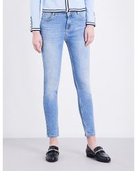 Claudie Pierlot | Blue Paulette Skinny Mid-rise Jeans | Lyst
