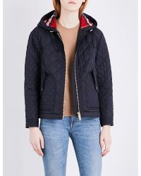 Burberry - Blue Angleton Quilted Jacket - Lyst