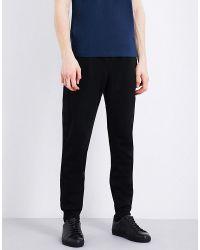 Burberry - Black Fulwell Cotton-blend Jogging Bottoms for Men - Lyst