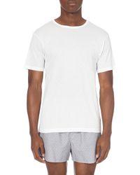 Sunspel | White Q14 Cellular Cotton T-shirt for Men | Lyst