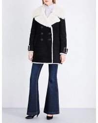 Burberry | Black Norhurst Suede And Shearling Coat | Lyst