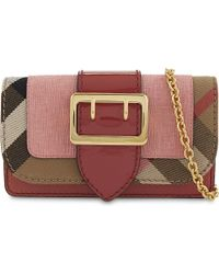 Burberry - Pink Buckle Cross-body Bag - Lyst