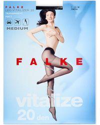 Falke | Black Vitalize 20 Denier Tights | Lyst