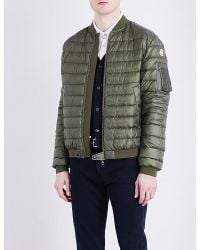 7f24e18ab131 Lyst - Moncler Aidan Quilted Shell Bomber Jacket for Men