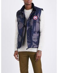 3e054ef4100e5 Canada Goose - Blue Freestyle Crew Padded Shell-down Gilet for Men - Lyst