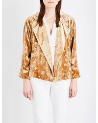 Elizabeth and James | Metallic Audry Floral Velvet Jacket | Lyst