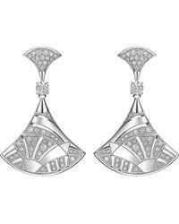 BVLGARI - Divas' Dream 18kt White-gold Earrings - Lyst