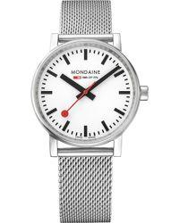 Mondaine - Metallic Mse-35110-sm Evo2 Stainless Steel Watch for Men - Lyst