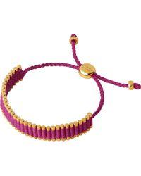 Links of London   Metallic 18ct Rose Gold Vermeil Mini Friendship Bracelet   Lyst