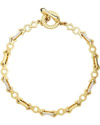 Links of London | Metallic Timeless Gold 18ct Yellow-gold And Diamond Bracelet | Lyst