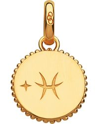 Links of London | Pisces 18ct Yellow-gold Vermeil Zodiac Charm | Lyst