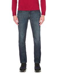 BOSS - Blue Regular-fit Tapered Jeans for Men - Lyst