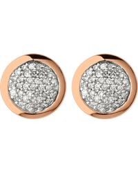 Links of London | Metallic Diamond Essentials Rose Gold Vermeil And Diamond Stud Earrings | Lyst