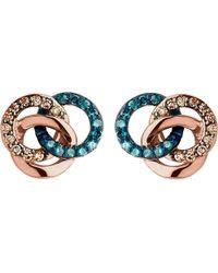 Links of London | Blue Treasured 18ct Rose-gold Vermeil And Diamond Stud Earrings | Lyst