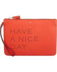 Anya Hindmarch - Multicolor Have A Nice Day Leather Pouch - Lyst