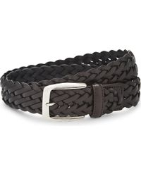 Canali | Brown Woven Leather Belt | Lyst