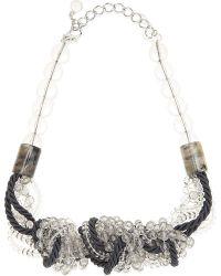 Armani | Metallic Beaded Necklace | Lyst