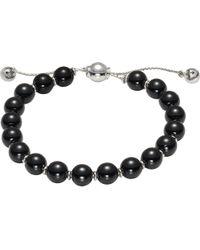 Gucci - Black Boule Britt Sterling Silver Bracelet - Lyst