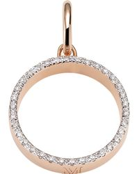 Monica Vinader | Metallic Naida 18ct Rose-gold Vermeil And Diamond Pendant | Lyst