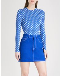 8ed4ee694df1d Givenchy Star-print Stretch-jersey Body in Blue - Lyst