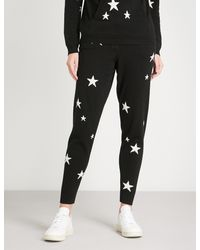 Chinti & Parker - Black Star-intarsia Cashmere Jogging Bottoms - Lyst