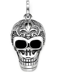 Thomas Sabo | Metallic Rebel At Heart Skull Sterling Silver Pendant | Lyst