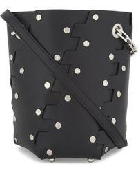 Proenza Schouler | Black Hexagonal Studded Mini Bucket Bag | Lyst