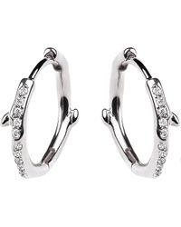 Shaun Leane | Metallic Cherry Branch Silver And Diamond Hoop Earrings | Lyst