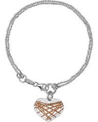 Links of London - Metallic Dream Catcher Heart Bracelet - Lyst