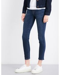J Brand - Blue 811 Skinny Mid-rise Jeans - Lyst
