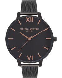 Olivia Burton - Black Ob15bd83 After Dark Mesh Watch - Lyst