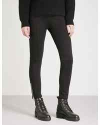 The Kooples - Black High-rise Skinny Jersey Leggings - Lyst