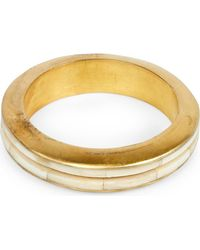 Parts Of 4 - Metallic Portal Crevice Bone And Acid-wash Gold-plated Bangle - Lyst